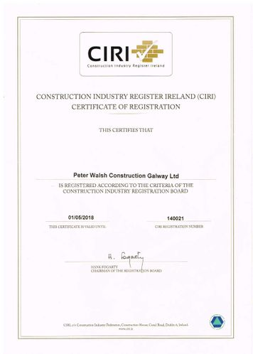 Peter Walsh Construction Galway Ltd
